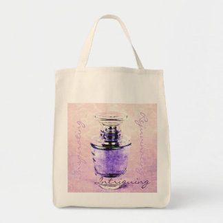 Romantic french perfume bottle tote bag