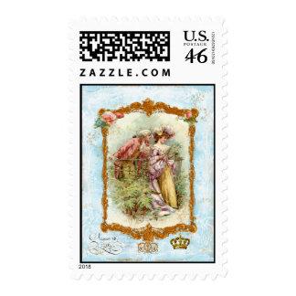 Romantic French Regency Couple Postage
