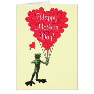 Romantic frog mothers day card