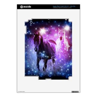 Romantic Galaxy blue purple stars Galloping Horses iPad 3 Skins