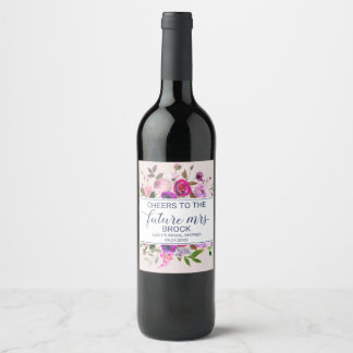 Romantic Garden Cheers to the Future Mrs Wine Label