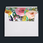 """Romantic Garden Colorful Flowers Envelope<br><div class=""""desc"""">Romantic Garden Colorful Flowers you can personalize with text</div>"""