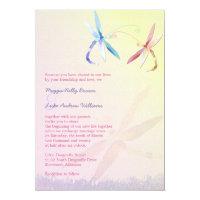 Romantic Garden Dragonfly Wedding Invitation