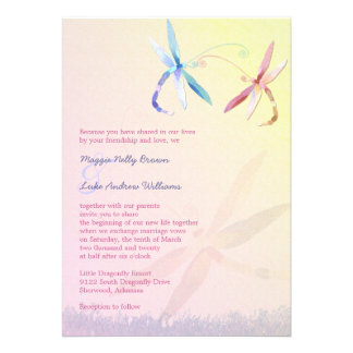 Romantic Garden Dragonfly Wedding Invitations