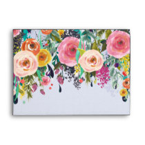 Romantic Garden Floral Envelope