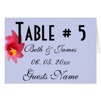 Romantic Garden Floral Wedding Table & Menu Card