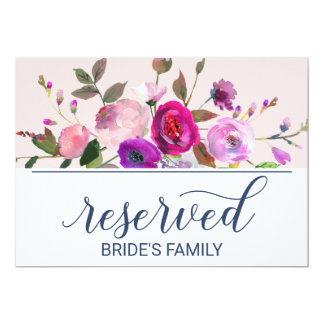 Romantic Garden Reserved Sign Card