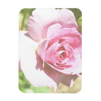 Romantic Garden Rose Impression Rectangular Photo Magnet
