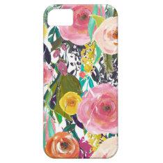 Romantic Garden Watercolor Flowers iPhone SE/5/5s Case at Zazzle