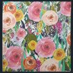 """Romantic Garden Watercolor Flowers Napkin<br><div class=""""desc"""">Romantic Garden Watercolor Flowers</div>"""