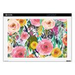 Romantic Garden Watercolor Flowers Skin For Laptop