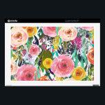 "Romantic Garden Watercolor Flowers Skin For Laptop<br><div class=""desc"">Romantic Garden Watercolor Flowers</div>"