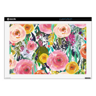 Romantic Garden Watercolor Flowers Skin For Laptop