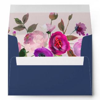 Romantic Garden Wedding Invitation Envelope