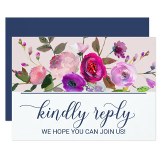 Romantic Garden Wedding Website RSVP Card