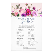 Romantic Garden What's In Your Purse Game Flyer