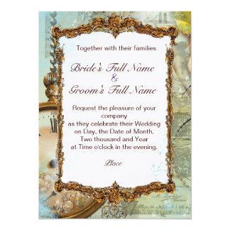 Romantic Gazebo & Fancy Scrolls 5.5x7.5 Paper Invitation Card