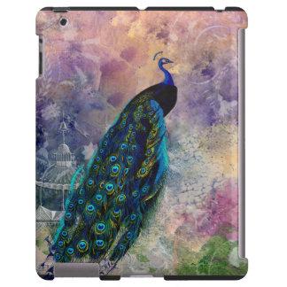 Romantic Gazebo Peacock and Watercolor