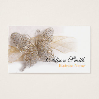 Romantic generic Business card with butterfly