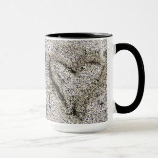 Romantic Geology Heart in Sand with Name Mug