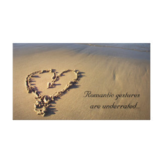 Romantic Gestures Are Underrated Canvas Print