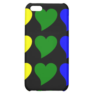 Romantic Gifts for Girls : A Rainbow of Hearts Cover For iPhone 5C