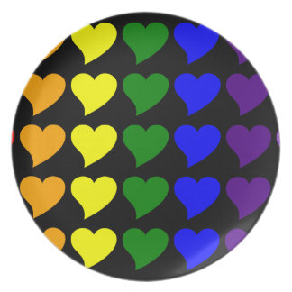 Romantic Gifts for Girls A Rainbow of Hearts Dinner Plates