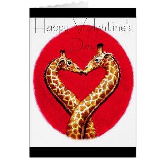 Romantic Giraffe's Card