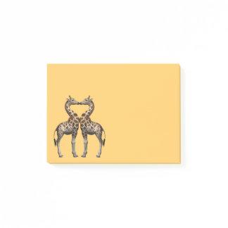 Romantic Giraffes Post-it Notes