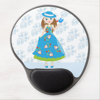 Romantic girl birthday party gel mouse pad