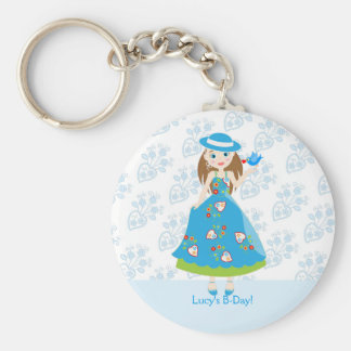 Romantic girl birthday party keychain