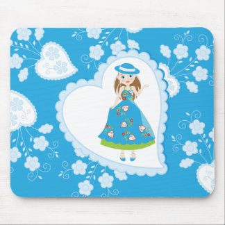 Romantic girl birthday party mouse pad