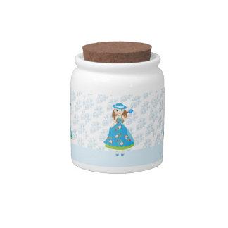 Romantic Girl Candy Jar