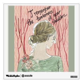 romantic girl wall sticker