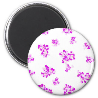 Romantic girlie wallpaper with pink flowers magnet