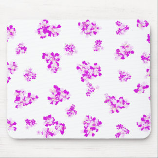 Romantic girlie wallpaper with pink flowers mouse pad