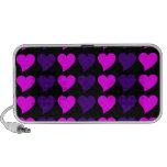 Romantic Girls Gifts : Pink Purple Hearts Stripes Notebook Speaker
