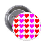 Romantic Girls Gifts : Pink & red Love Hearts Button