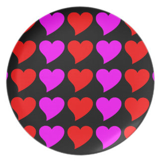 Romantic Girls Gifts Pink red Love Hearts Dinner Plates