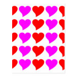 Romantic Girls Gifts : Pink & red Love Hearts Postcard