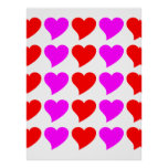 Romantic Girls Gifts : Pink & red Love Hearts Print