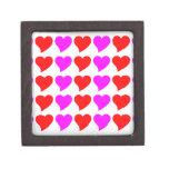 Romantic Girls Gifts : Pink & red Love Hearts Premium Keepsake Box