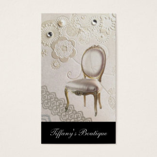 romantic girly chandelier Rococo chair paris Business Card
