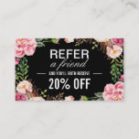 """Romantic Girly Floral Wrapping Referral Card<br><div class=""""desc"""">Make the perfect Referral Card for your business with this &quot;Romantic Girly Floral Wrapping&quot; template. It&#39;s easy and fun! (1) For further customization, please click the &quot;Customize&quot; button and use our design tool to modify this template. All text style, colors, sizes can be modified to fit your needs. (2) If...</div>"""