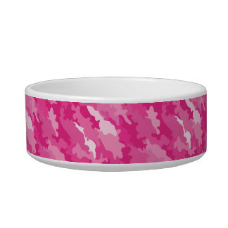 Romantic girly style camouflage pink pattern bowl