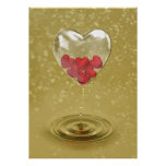 Romantic Glass Heart Design - Poster