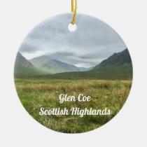 Romantic Glen Coe Mountains Scottish Highlands Ceramic Ornament