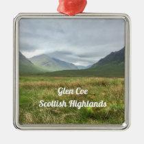 Romantic Glen Coe Mountains Scottish Highlands Metal Ornament