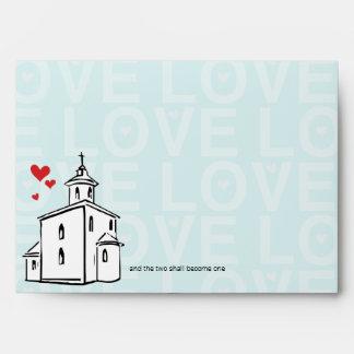 Romantic Going to the Chapel Christian Religious Envelope