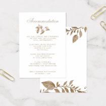 Romantic Gold Botanical accommodation cards